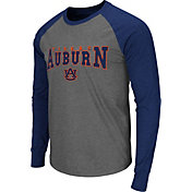 Colosseum Men's Auburn Tigers Grey Olympus Long Sleeve Shirt