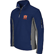 Colosseum Men's Auburn Tigers Blue Quarter-Zip Plow Jacket