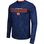Colosseum Athletics Men's Auburn Tigers Blue Sleet Long Sleeve Performance Shirt