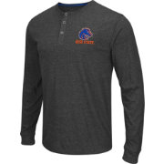 Colosseum Athletics Men's Boise State Broncos Charcoal Long Sleeve Henley T-Shirt