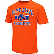 Colosseum Athletics Men's Boise State Broncos Orange Dual-Blend T-Shirt