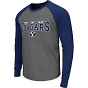 Colosseum Men's Brigham Young Cougars Grey Olympus Long Sleeve Shirt