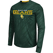 Colosseum Athletics Men's Baylor Bears Green Sleet Long Sleeve Performance Shirt