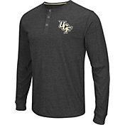 Colosseum Athletics Men's UCF Knights Charcoal Long Sleeve Henley T-Shirt