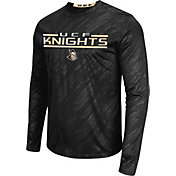 Colosseum Athletics Men's Central Florida Knights Sleet Black Long Sleeve Performance Shirt