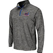 Colosseum Athletics Men's Florida Gators Grey Action Pass Quarter-Zip