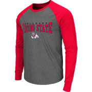 Colosseum Men's Fresno State Bulldogs Grey Olympus Long Sleeve Shirt