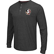 Colosseum Athletics Men's Florida State Seminoles Charcoal Long Sleeve Henley T-Shirt