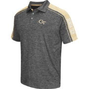 Chiliwear Men's Georgia Tech Yellow Jackets Grey Birdie Polo