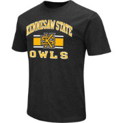 Colosseum Athletics Men's Kennesaw State Wildcats Black Dual Blend T-Shirt