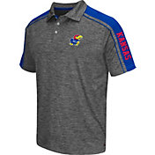 Chiliwear Men's Kansas Jayhawks Grey Birdie Polo