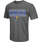 Colosseum Athletics Men's Kansas Jayhawks Grey Matrix T-Shirt
