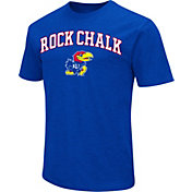 Colosseum Athletics Men's Kansas Jayhawks Blue Team Slogan T-Shirt