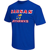Colosseum Athletics Men's Kansas Jayhawks Blue Matrix T-Shirt