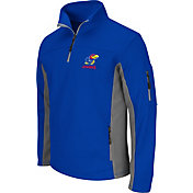 Colosseum Men's Kansas Jayhawks Blue Quarter-Zip Plow Jacket