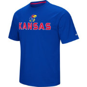 Colosseum Athletics Men's Kansas Jayhawks  Blue Pique Performance T-Shirt