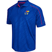 Chiliwear Men's Kansas Jayhawks Blue Sleet Performance Polo