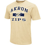 Colosseum Athletics Men's Akron Zips Gold Dual-Blend T-Shirt
