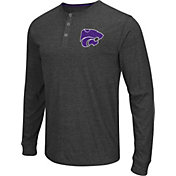 Colosseum Athletics Men's Kansas State Wildcats Charcoal Long Sleeve Henley T-Shirt