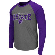 Colosseum Men's Kansas State Wildcats Grey Olympus Long Sleeve Shirt