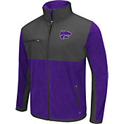 Colosseum Athletics Men's Kansas State Wildcats Purple/Grey Mesa Polar Fleece Jacket