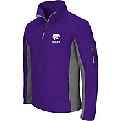 Colosseum Men's Kansas State Wildcats Purple Quarter-Zip Plow Jacket