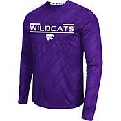 Colosseum Athletics Men's Kansas State Wildcats Purple Sleet Long Sleeve Performance Shirt