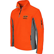Colosseum Men's Oklahoma State Cowboys Orange Quarter-Zip Plow Jacket