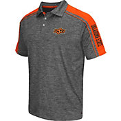 Chiliwear Men's Oklahoma State Cowboys Grey Birdie Polo