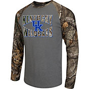 Colosseum Athletics Men's Kentucky Wildcats Grey/Camo Break Action Long Sleeve Shirt