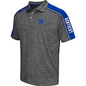 Chiliwear Men's Kentucky Wildcats Grey Birdie Polo