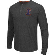 Colosseum Athletics Men's Illinois Fighting Illini Charcoal Long Sleeve Henley T-Shirt