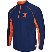 Colosseum Athletics Men's Illinois Fighting Illini Blue Airstream Quarter-Zip Windshirt