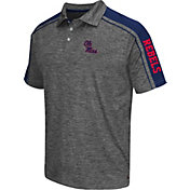 Chiliwear Men's Ole Miss Rebels Grey Birdie Polo