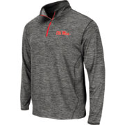 Colosseum Athletics Men's Ole Miss Rebels Grey Action Pass Quarter-Zip