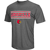 Colosseum Athletics Men's Louisville Cardinals Grey Matrix T-Shirt