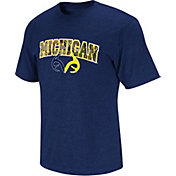 Colosseum Athletics Men's Michigan Wolverines Locals Only Real Tree State Blue T-Shirt