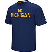 Colosseum Athletics Men's Michigan Wolverines Blue Pique Performance T-Shirt