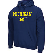 Colosseum Athletics Men's Michigan Wolverines Blue Performance Fleece Pullover Hoodie