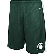 Colosseum Athletics Men's Michigan State Spartans Green Sleet Performance Shorts