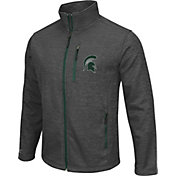 Colosseum Athletics Men's Michigan State Spartans Grey Backfield II Jacket