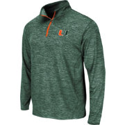 Colosseum Athletics Men's Miami Hurricanes Green Action Pass Quarter-Zip
