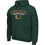 Colosseum Athletics Men's Miami Hurricanes Green Secondary Fleece Hoodie