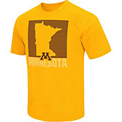 Colosseum Athletics Men's Minnesota Golden Gophers Gold State of the Union T-Shirt