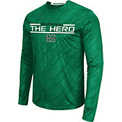 Colosseum Athletics Men's Marshall Thundering Herd Green Sleet Long Sleeve Performance Shirt