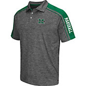 Chiliwear Men's Marshall Thundering Herd Grey Birdie Polo