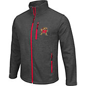 Colosseum Athletics Men's Maryland Terrapins Grey Backfield II Jacket