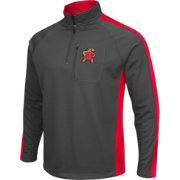 Colosseum Athletics Men's Maryland Terrapins Grey Defender Quarter-Zip Shirt