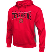 Colosseum Athletics Men's Maryland Terrapins Red Defend Pullover Fleece Hoodie