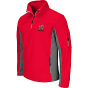 Colosseum Men's Maryland Terrapins Red Quarter-Zip Plow Jacket